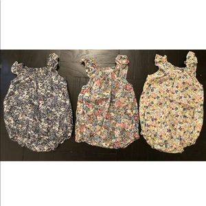 Baby CZ $375 Set Of 3 Rompers Bubbles 6-12 Months